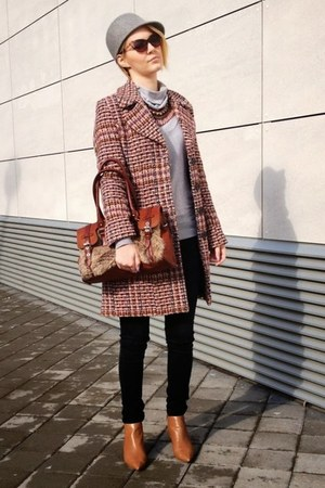 LEGEND world wide coat - Zara boots - Zara hat - david jones bag - Zara necklace