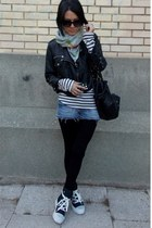 Tally Weijl jacket - Converse boots - New Yorker leggings - Promod bag