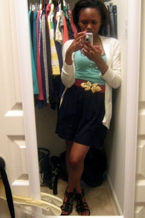 Target skirt - Forever21 blazer - H&M belt - H&M t-shirt - Target shoes