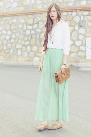 pul skirt - pull&amp;bear shoes - Mang bag - pull&amp;bear blouse
