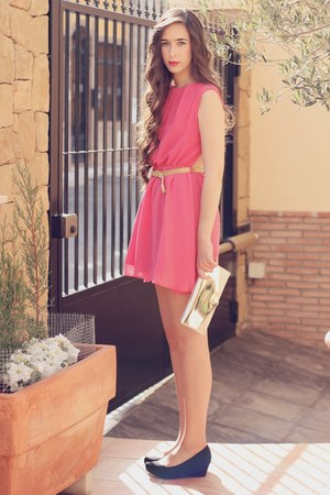 asos dress - Bershka shoes - BLANCO bag - Mango belt