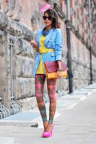 printed aztec Eclecticon leggings - blue pastel OASAP blazer