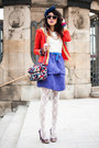 Red-lace-sheinside-jacket-sheinside-bag