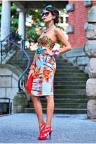 River Island skirt - miezko shoes - beginning boutique top