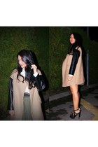 Guess sandals - Zara coat - vintage shirt - silvian heach skirt