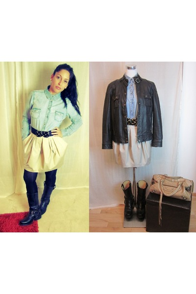 Tony Mora boots - vintage jacket - clockhouse shirt - balenciaga bag