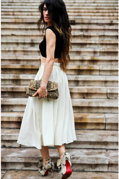 H&M skirt - asos top - Christian Louboutin heels