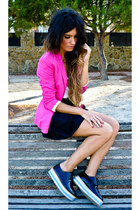 H&M skirt - romwe shoes - Zara blazer