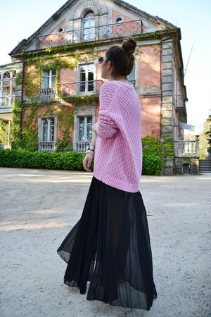 Zara jumper - Zara skirt - suiteblanco flats