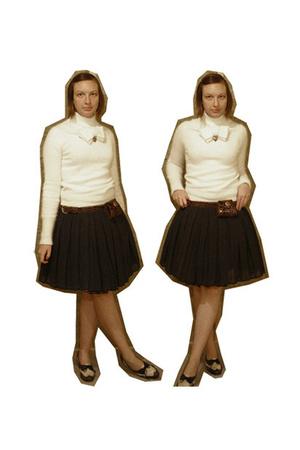 viktor & rolf sweater - belt - skirt - shoes