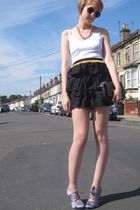 Topshop skirt - new look shoes - Topshop purse