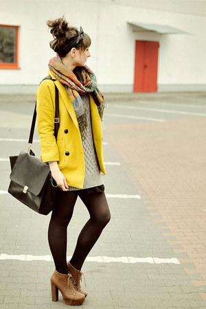 romwe bag - Chicwish coat - Chicwish sweater