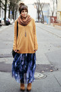 Mustard-cubus-sweater-blue-romwe-skirt