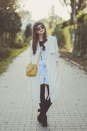 eggshell H&M coat