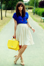 Yellow-wholesale-dress-bag-blue-stradivarius-top-cream-mango-skirt