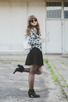white new look shirt - black new look boots