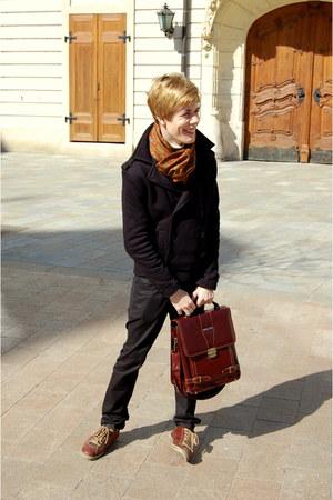 Deichmann shoes - New Yorker coat - vintage vintage scarf - bag - Zara pants