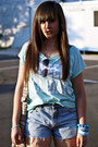 Sky-blue-vintage-jeans-aquamarine-new-yorker-shirt-gray-h-m-trend-sunglasses