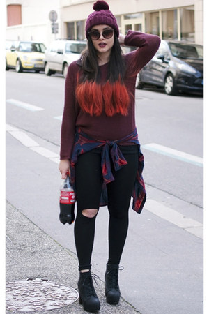 crimson H&M hat - crimson H&M sweater