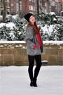 Black-topshop-boots-black-h-m-dress-charcoal-gray-vintage-coat