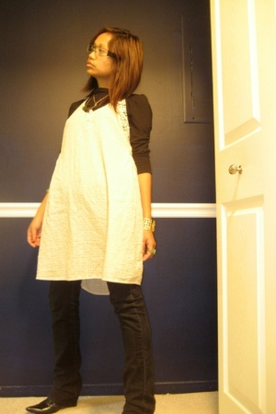Suzy Shier shirt - Mango jeans - Kimchi&Blue dress - Steve Madden shirt