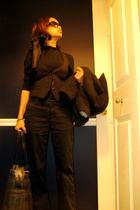 Suzy Shier shirt - Zara vest - Gap panties - Gap coat - Kenneth Cole purse - vin