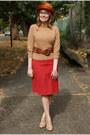 Camel-wild-diva-shoes-burnt-orange-vintage-hat-camel-thrifted-sweater