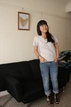 American Apparel shirt - Levis jeans - Nine West shoes