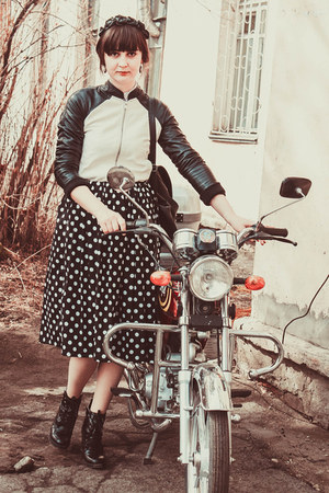 New Yorker jacket - Zara boots - DIY skirt