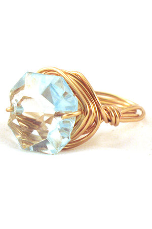 light blue Manic Trout ring