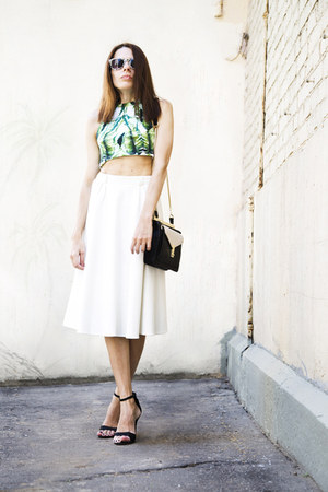 green River Island top - black Zara bag - leopard print sunglasses
