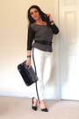 Black-bag-black-ring-black-bracelet-black-pumps-white-zara-pants
