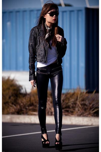 black Black Milk leggings - Topshop jacket