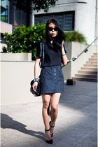 navy Alexander Wang skirt - black new look top