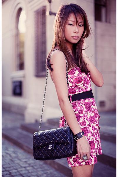 hot pink Forever 21 dress