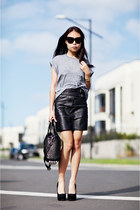 black Topshop skirt - heather gray Topshop swimwear