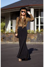 Black-schwing-schwing-skirt-yellow-asos-blouse