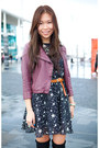 Navy-asos-dress-maroon-dotti-jacket