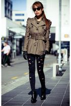 black Black Milk leggings - beige modcloth jacket