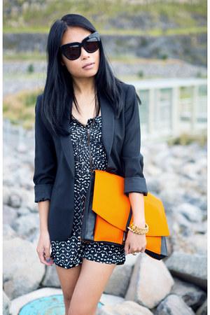orange asos bag - black Zara blazer