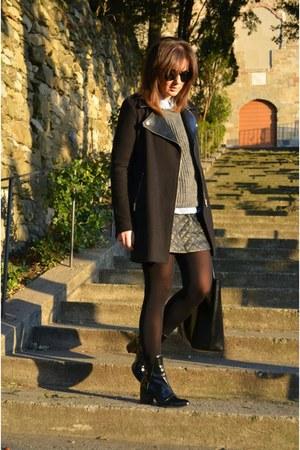 Zara boots - romwe skirt