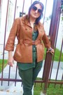 Tawny-leather-see-by-chloe-jacket-olive-green-chiffon-american-apparel-shirt