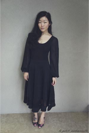 black bodysuit Boohoo bodysuit - black skirt Boohoo skirt