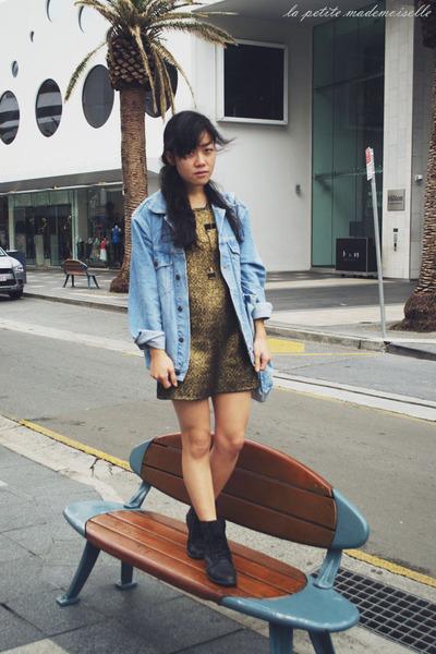 sky blue jacket asos jacket - black boots Roc Boots boots
