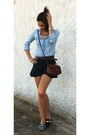 Turquoise-blue-zara-shoes-blue-stradivarius-shirt