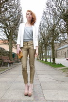 gold H&M pants - silver Magasin top