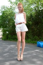 ivory levi vintage shorts - white Jones New York top