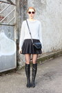 Heather-gray-asos-sweater-black-scuba-h-m-skirt