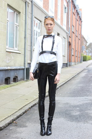 black asos pants - black harness unknown accessories
