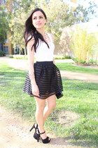 black Aqua skirt - light pink H&M necklace - black Steve Madden heels